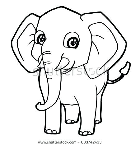450x470 Cartoon Elephant Coloring Pages Elephant Head Coloring Page Top