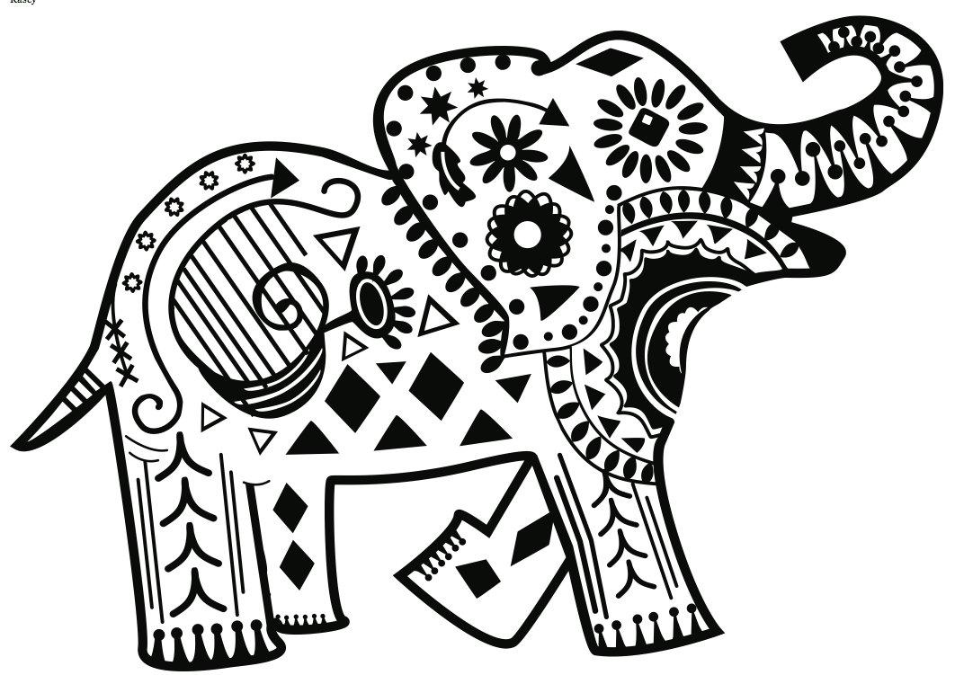 Elephant Mandala Coloring Pages At Getdrawings Com Free