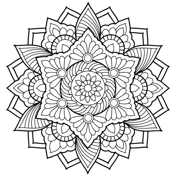 Elephant Mandala Coloring Pages at GetDrawings.com | Free for ...