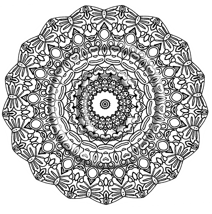 736x745 Zentangle Coloring Page Free Download