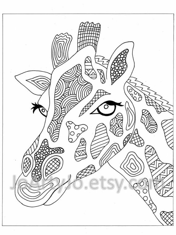 570x760 Zentangle Elephant Coloring Pages