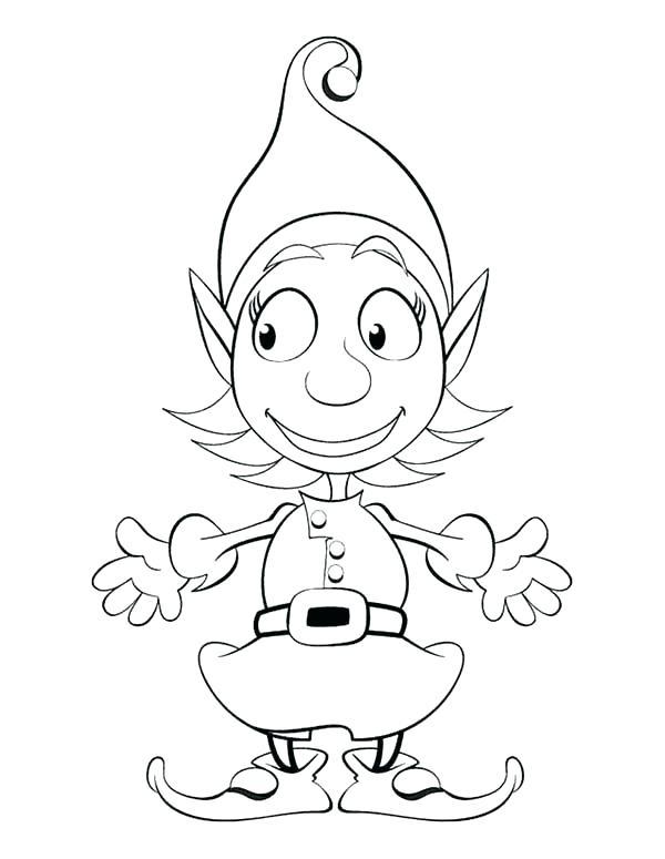 600x775 Free Printable Elf Coloring Pages Elf Coloring Free Printable Elf