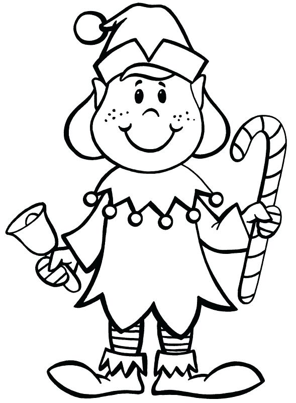 589x800 Christmas Elf Coloring Pages To Print Christmas Elf Coloring Pages