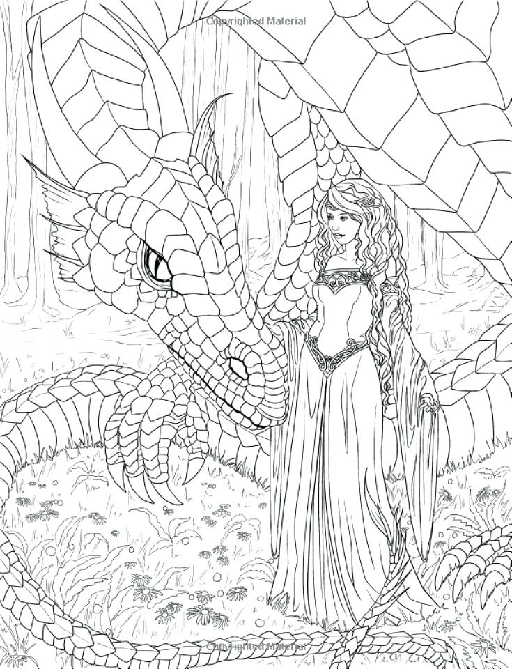 735x960 Coloring Pages Adults Printable Elf Coloring Pages For Adults