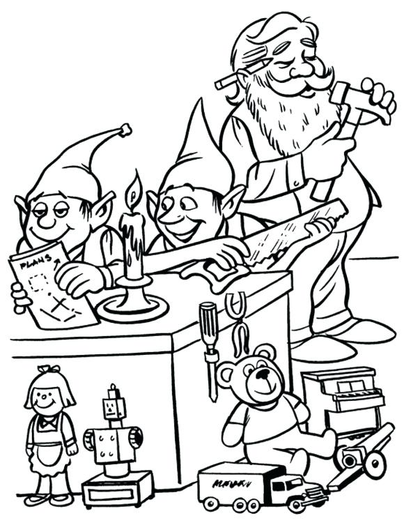 580x753 Elf Coloring Pages Elf Coloring Pages And A Elf Coloring Pages