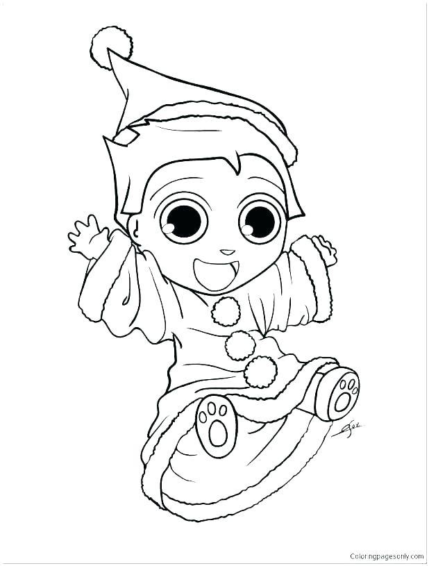 618x815 Elf Printable Coloring Pages Elf Printable Coloring Pages Elf