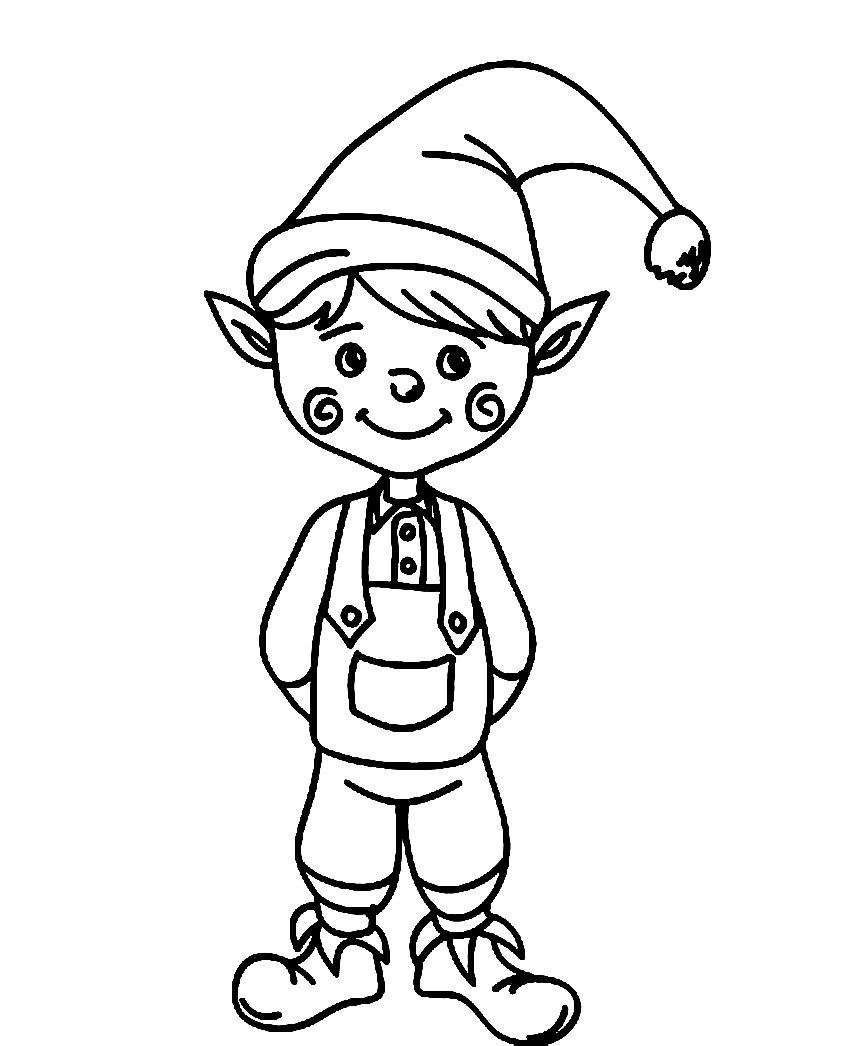 852x1046 Elves Coloring Pages Adorable Elf For Adults Acpra
