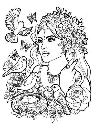 385x512 Fantasy Myth Mythical Mystical Legend Elf Elves Coloring Pages