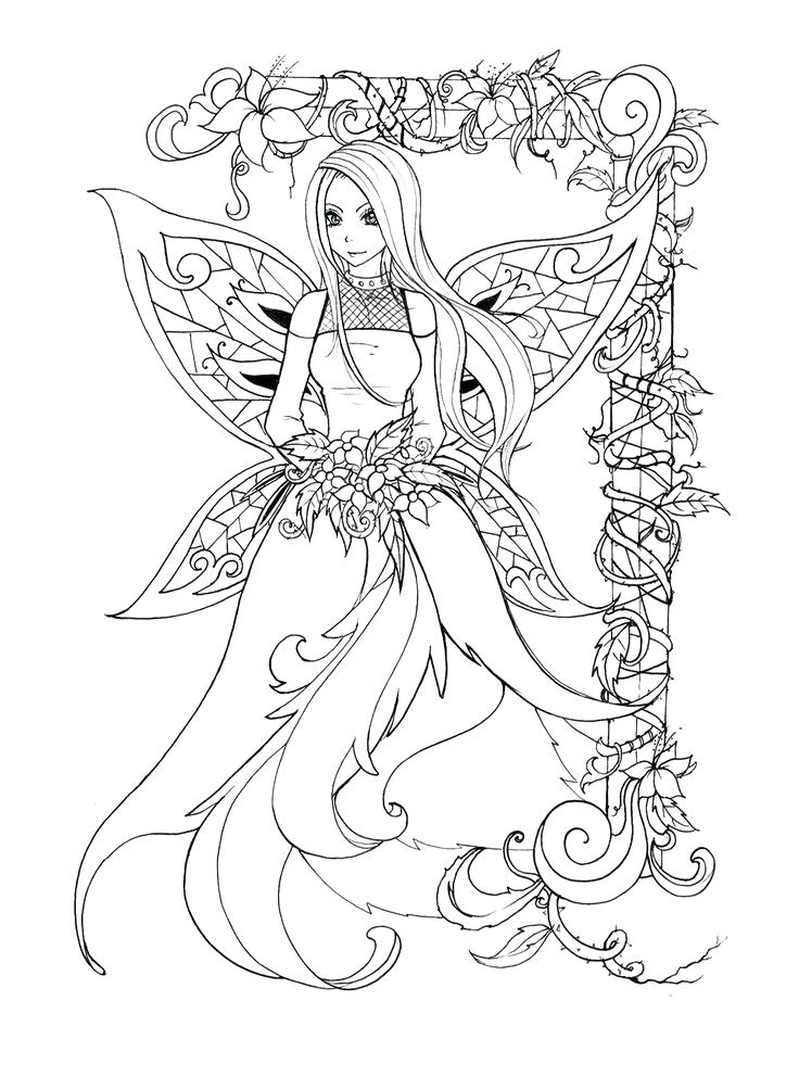 736x992 Idea Free Printable Elf Coloring Pages For Fairy Pic