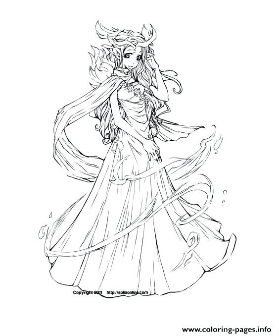 564x678 Anime Coloring Pages Anime Elf Coloring Pages Free Anime Coloring