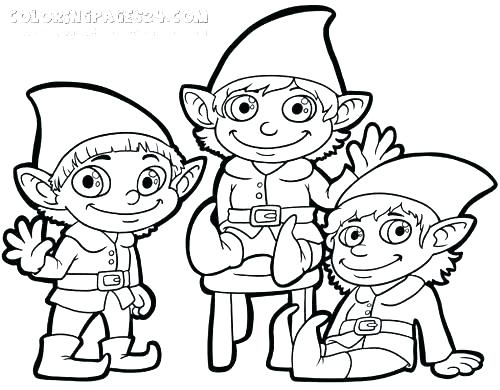500x390 Christmas Elf Coloring Pages Also Elf Coloring Pages Coloring