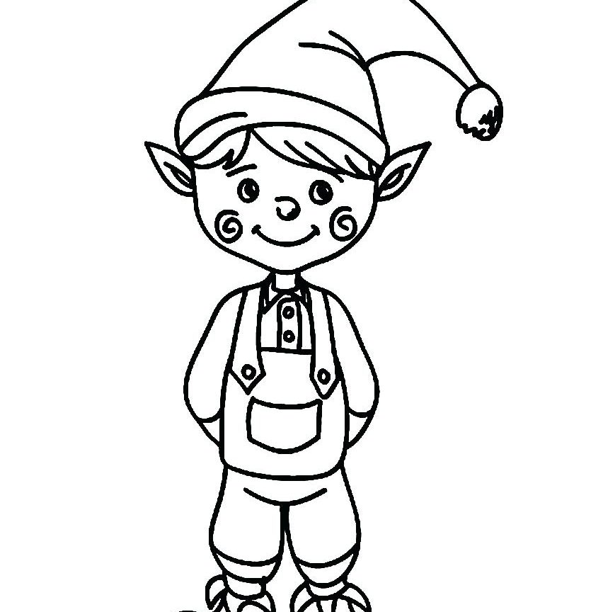 852x864 Elf Coloring Pages For Preschool On The Shelf Girl Boy