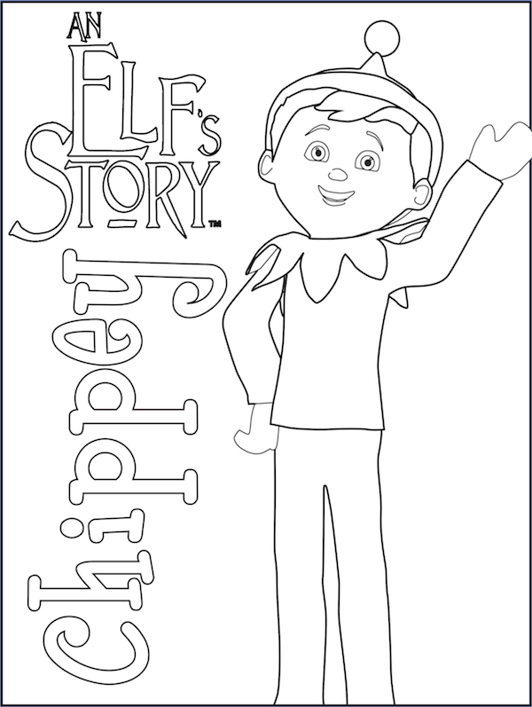 600x797 Elf On The Shelf Coloring Pages