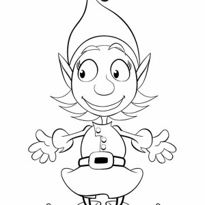300x300 Girl Elf Coloring Pages