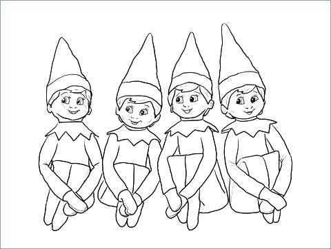480x362 Coloring Pages To Print Girl Elf On The Shelf Coloring Design