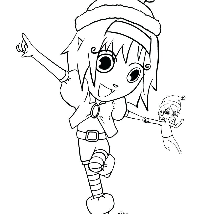 820x864 Coloring Pages To Print Girl Elf On The Shelf Free Page Sheets Out