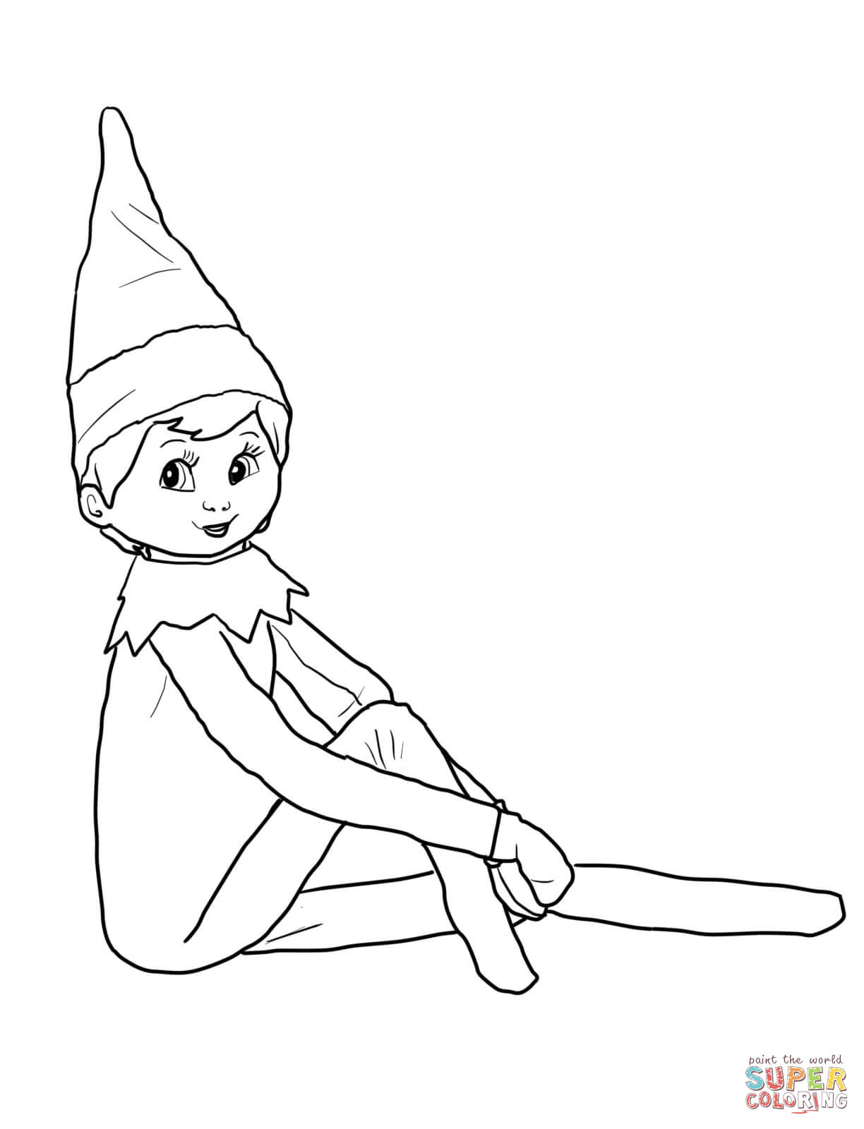 1224x1600 Girl Elf On The Shelf Coloring Pages Printable