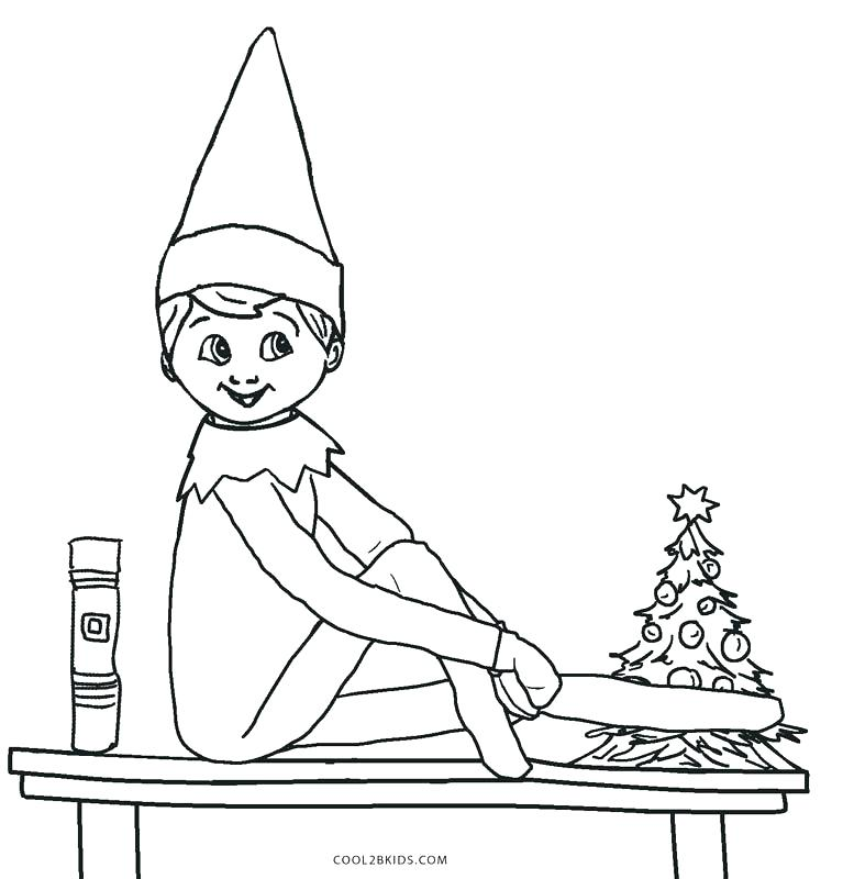 777x800 Elf Coloring Page Elf On The Shelf Coloring Book Also Elf Coloring