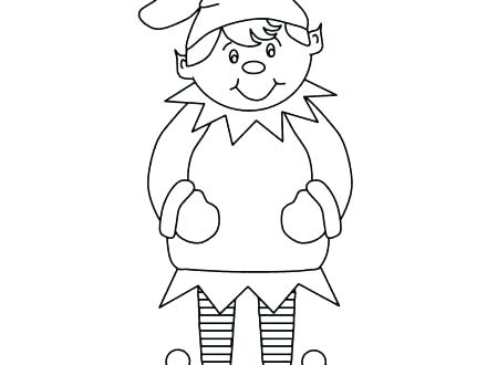 440x330 Elf Coloring Pages Elf Coloring Free Printable Elf Coloring Pages