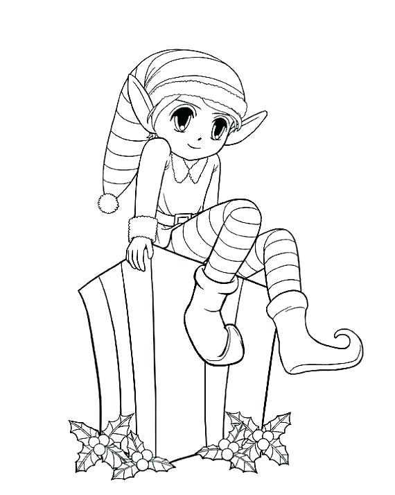 570x713 Cute Elf Coloring Pages Idea Free Elf Coloring Pages Or Girl Elf