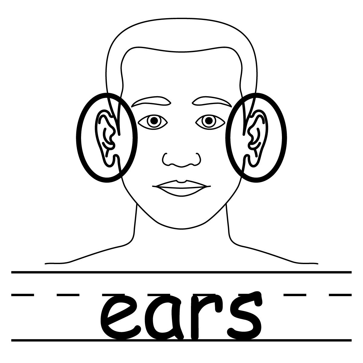 1200x1200 Elf Ears Template For Ear Coloring Page
