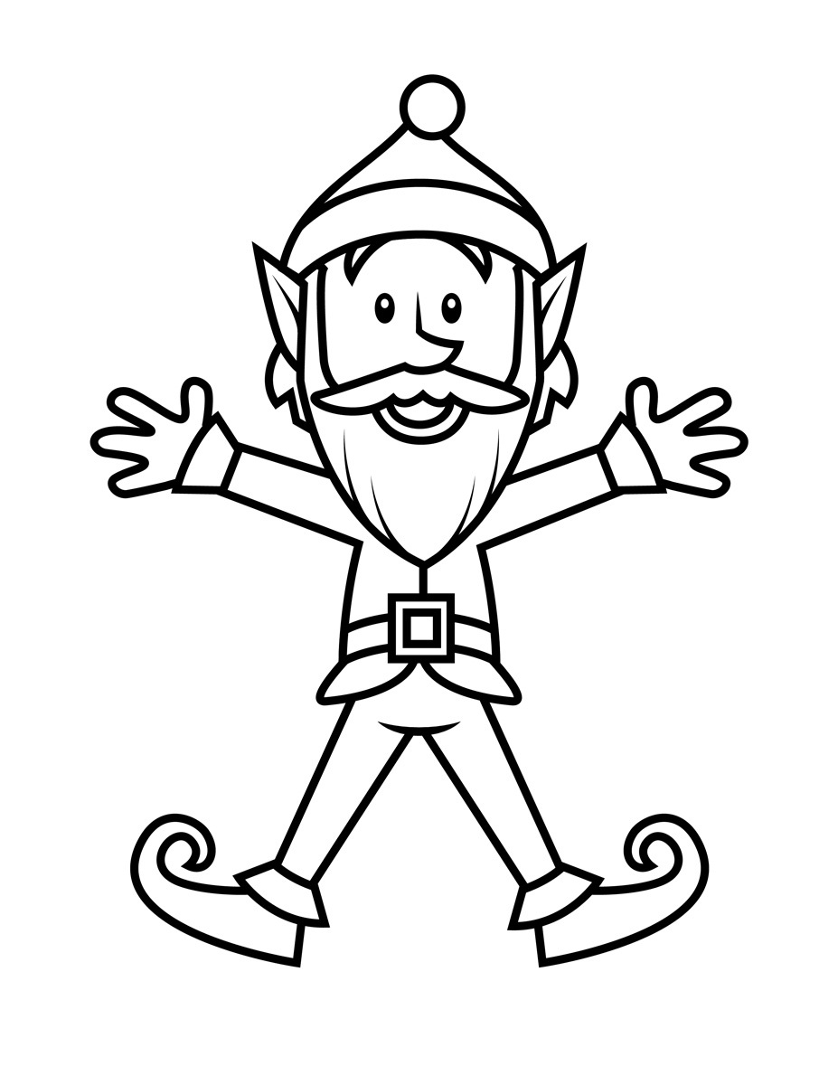 927x1200 Free Printable Elf Coloring Pages For Kids