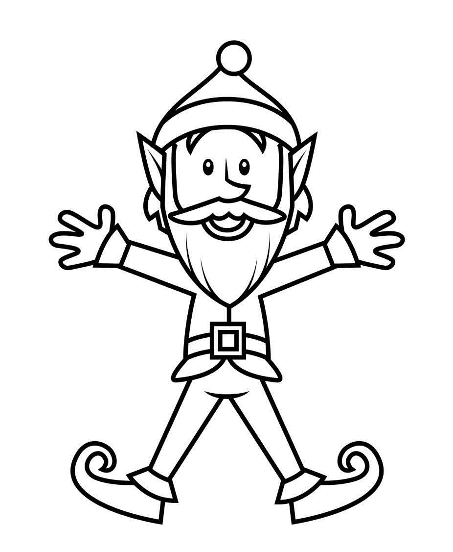 926x1126 Coloring Pages Free Off Elf Template Elf On The Shelf Welcome