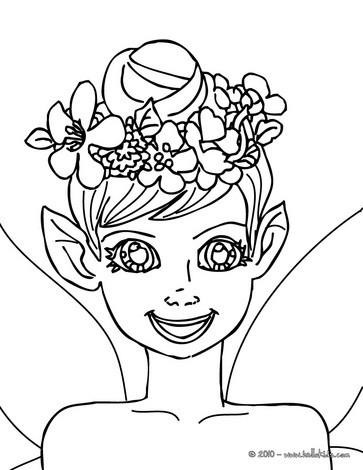 363x470 Small Elf Coloring Pages