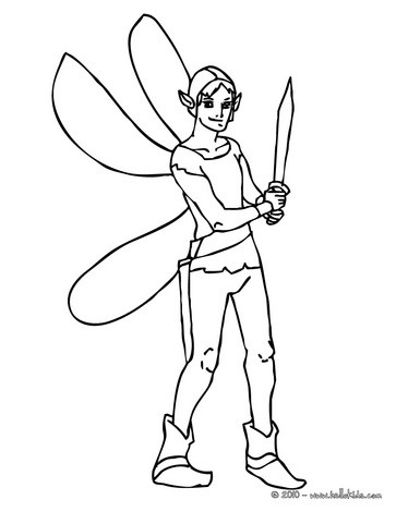 363x470 Elves Coloring Pages