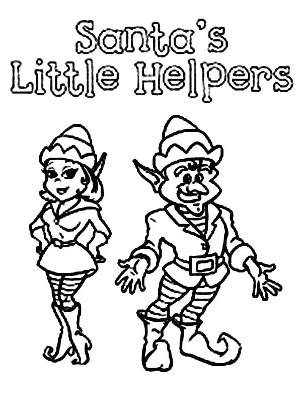 600x826 Elf Coloring Pages Elf Coloring Pages Free Printable Elf Coloring