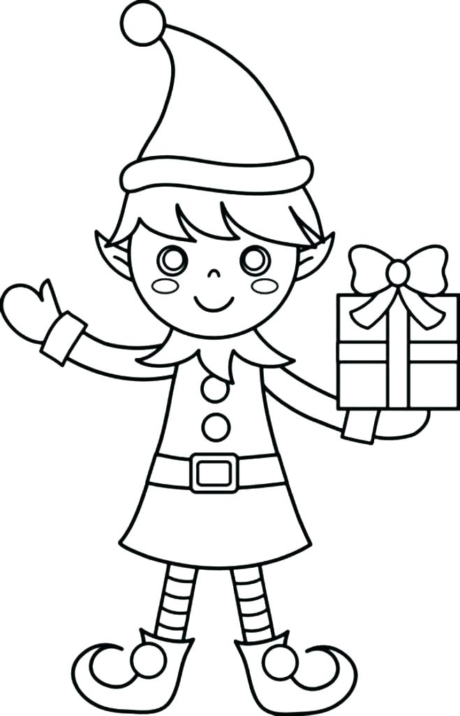 659x1024 Elf Coloring Pages Printable Pictures Elf Coloring Book Free Elf