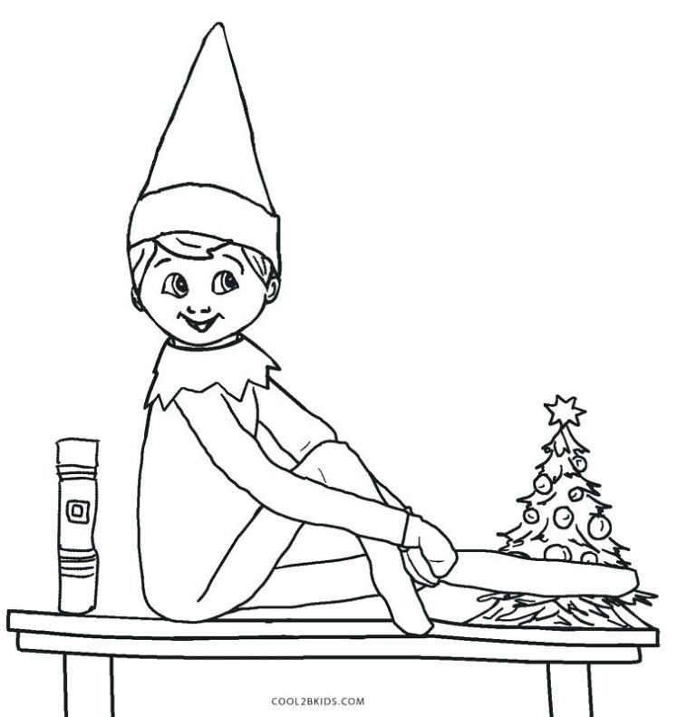 image relating to Elf Hat Printable named Elf Hat Coloring Web page at  Cost-free for unique