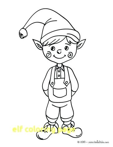 364x470 Ideas Elf Coloring Pages For Kids For Elf Coloring Page With Elf