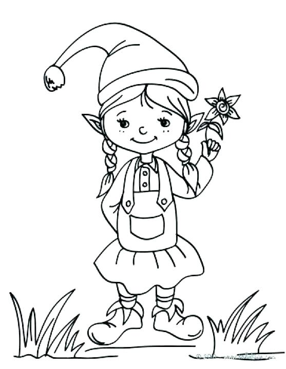 557x720 Elf On The Shelf Coloring Also Elf On The Shelf Coloring Page Elf