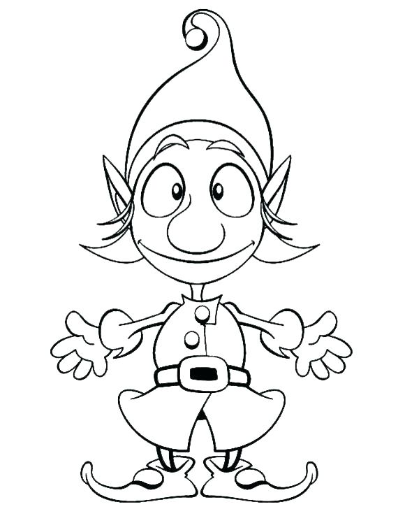 580x748 Elf The Shelf Coloring Page Elf The Shelf Color Pages Elf