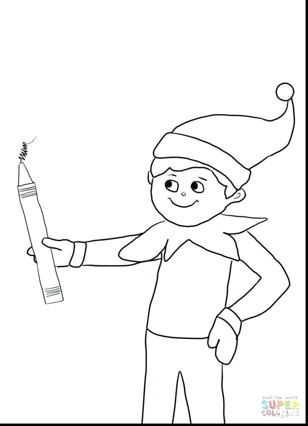 618x855 Elf On The Shelf Coloring Pages Elf On The Shelf Coloring Pages