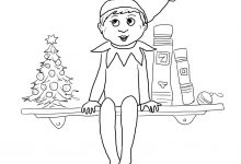 220x150 Projects Design Elf On The Shelf Coloring Pages Boy Printable