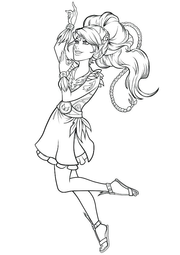 595x842 Elf Coloring Page Pages Shelf