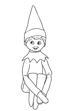 296x430 Elf On Shelf Coloring Pages Coloring Elf On The Shelf Coloring