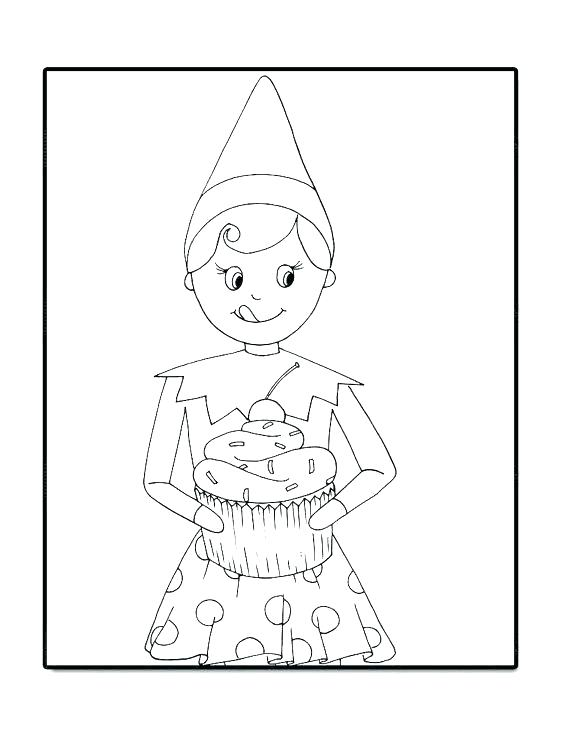 570x738 Elf On Shelf Coloring Pages Free Elf Coloring Pages Able Free Elf