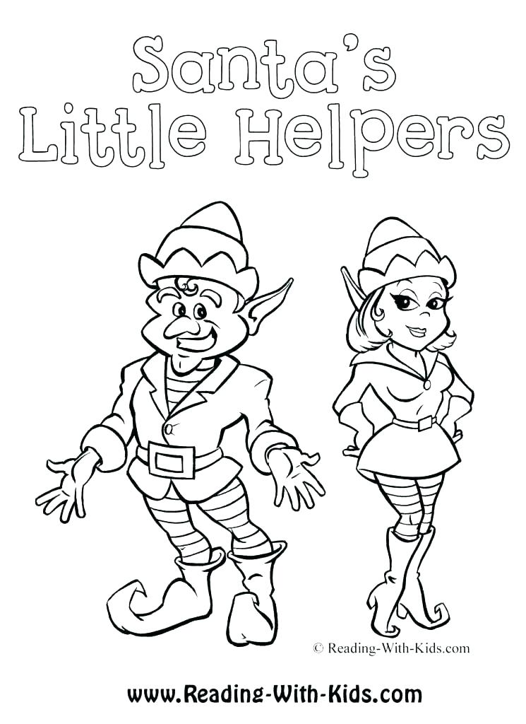 745x1024 Elf Coloring Page Elves Coloring Pages Girl Scout Brownie Elf