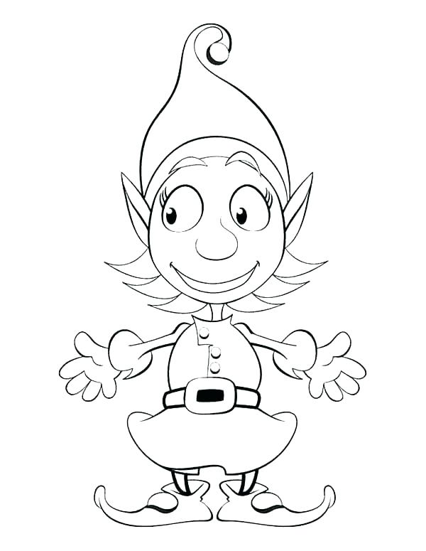 600x775 Elf On Shelf Coloring Pages For X Free Printable Elf