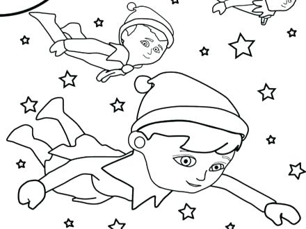 440x330 Elf Shelf Coloring Page On The Color Pages Buddy Made Toys Print E