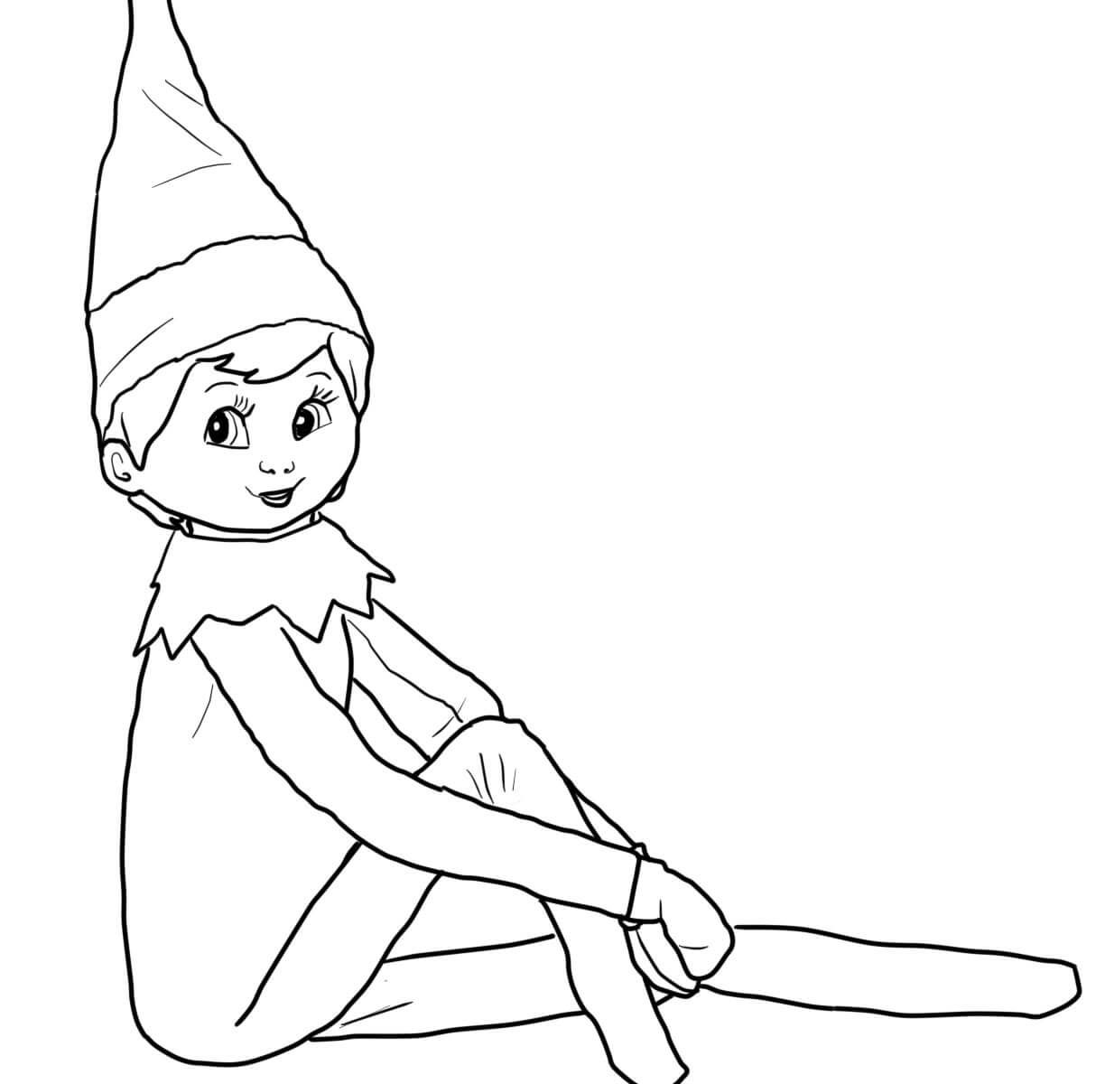 1224x1200 Elves Coloring Pages Topf Pic Singular For Kids On The Shelf