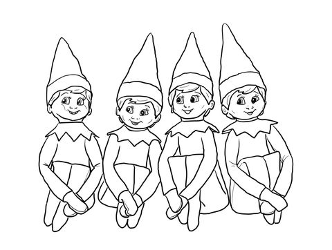 480x362 Elves On The Shelf Coloring Page From Elf On The Shelf Category