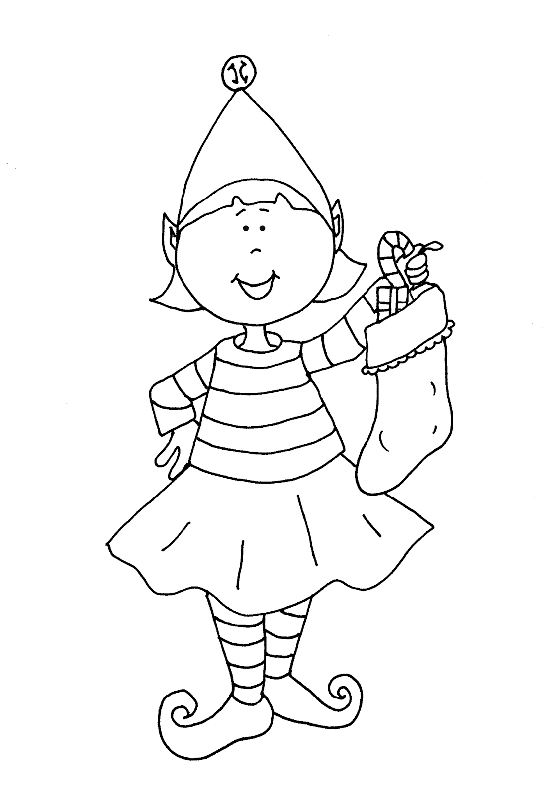 1106x1600 Security Elf On The Shelf Girl Coloring Pages Printable