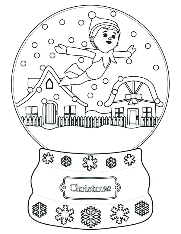 600x775 Elf Coloring Pages Printable