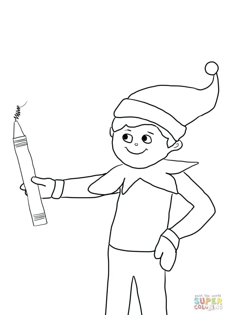 740x1024 Elf Coloring Pictures