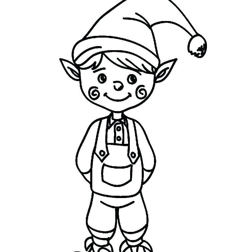 852x864 Elf On The Shelf Coloring