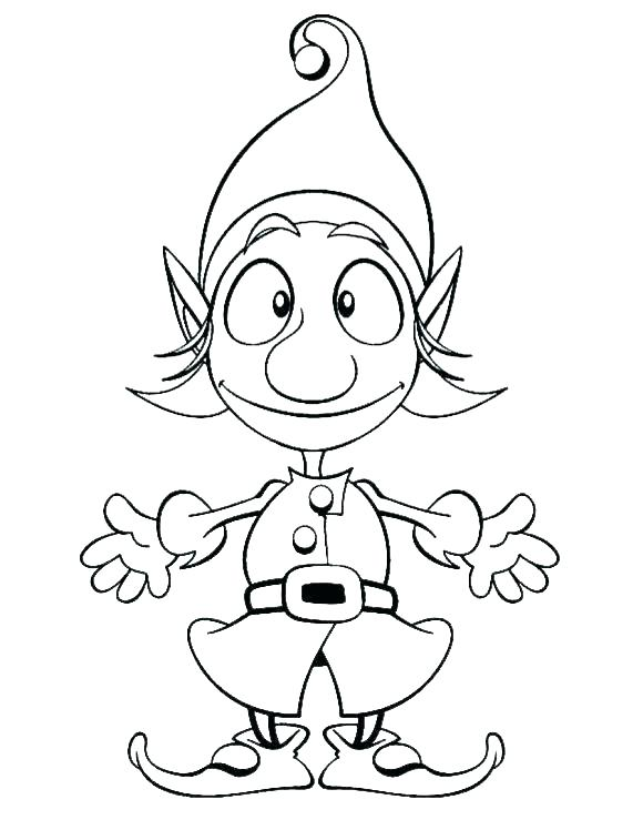 580x748 Elf Coloring Pictures Elf Coloring Pages Photographs Hard Worker